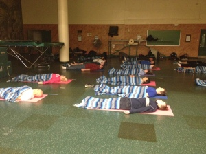 Group of Students During  Yoga Nidra